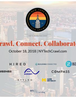 New York Tech Crawl on October 18 2018