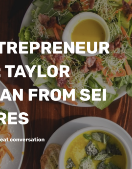 TFF ENTREPRENEUR LUNCH: TAYLOR CHAPMAN FROM SEI VENTURES